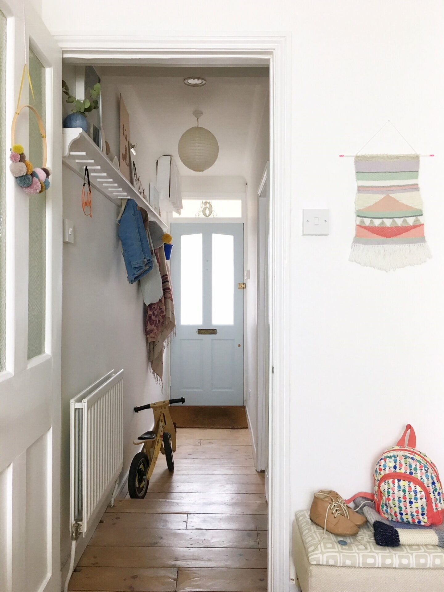 Narrow hallway storage solutions